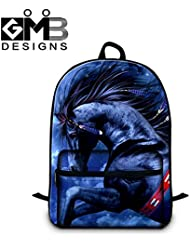 Generic Fashionable Backpacks for Students 3D Horse School Bags for Children by GIVE ME BAG