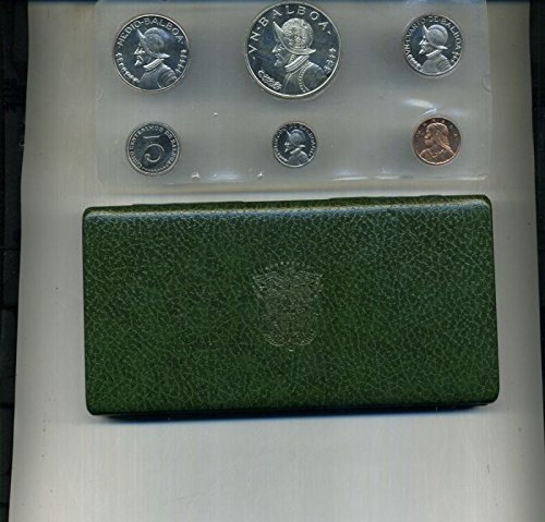 Review PA 1973 Republic of Panama 6 Coins Proof Set with 90% Silver Balboa in the Box Proof