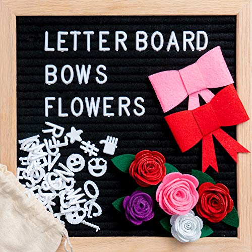 black felt letter board 10 x 10 inch changeable letter board bulletin message includes 340. Black Bedroom Furniture Sets. Home Design Ideas