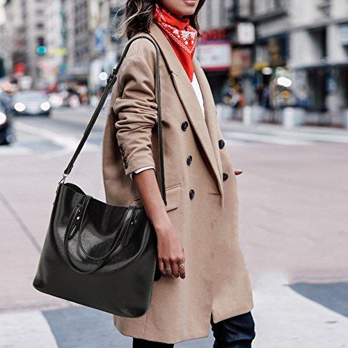 Sacs De manche Black Dames Haut tout épaule à Capacité En Main Casual Grande Sac Femmes Pour à Cuir Classique Main Sacs PU Fourre Shoping a7qnWapO