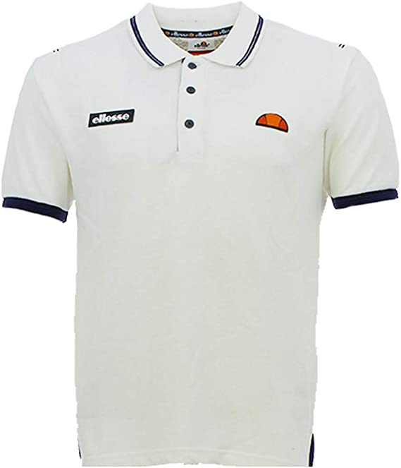 Ellesse - Polo - Básico - con Botones - para Hombre Blanco XL ...