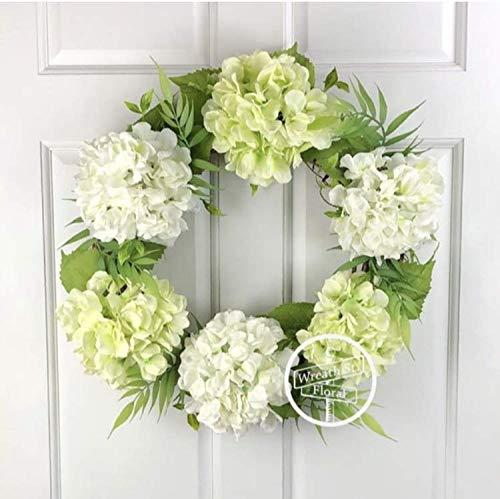 Lime Green Hydrangea Wreath