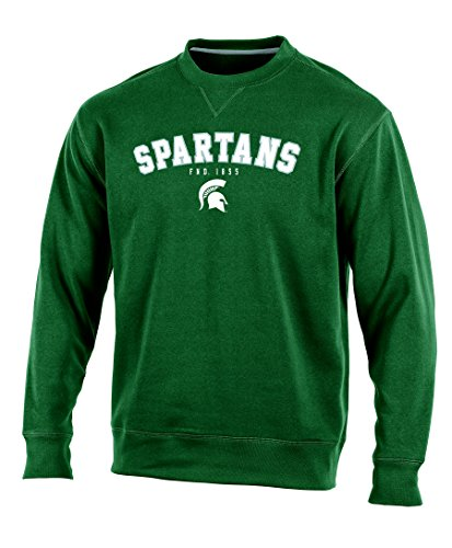 Champion NCAA Michigan State Spartans Adult Men Crew Neck Fleece, X-Large, Green