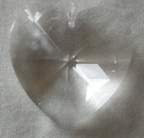 Swarovski 40mm Clear Large Crystal Faceted Heart