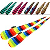 FUNKY® Sock Poi Set (5 Designs) Pro Poi Spinning Socks AKA Tube Poi (Zebbra)