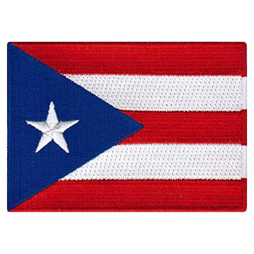 PUERTO RICO FLAG embroidered iron-on PATCH RICAN EMBLEM appl