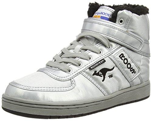 Kangaroos Moonwalker, WoMen Hi-Top Sneakers Silver - Silber (Silver/Blk 950)