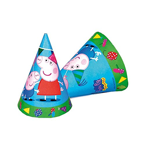 Peppa Pig Cone Party Hats (6 Pack)