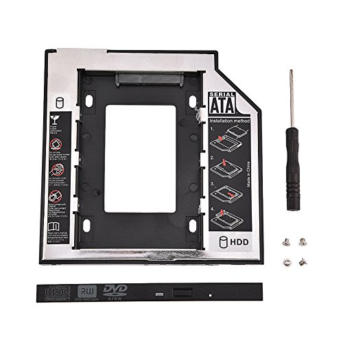 - ASHATA HDD Bracket, 2.5in SATA I II III HDD Internal Hard Disk Drive CD/DVD-ROM Bracket,SSD HDD Metal Mounting Bracket Adapter Hard Drive Holder for Lenovo ThinkPad/HP/DELL/Samsung/Sony,etc