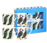 Churchill Penguin And Puffin Fine China Gift Coffee Tea Mugs Set of 4