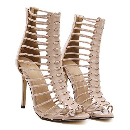 de alta mujer Zapatos black grandes de tacón UE sandalias finas Europa América y RUGAI calidad de alto y verano OSxpRqg