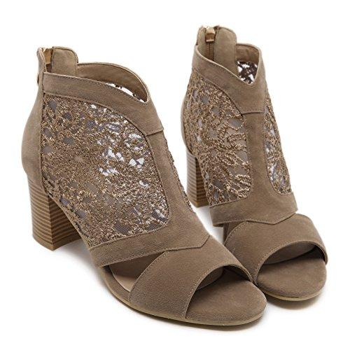 RUGAI-UE Sandalias femeninas con tacones altos y tacones altos black