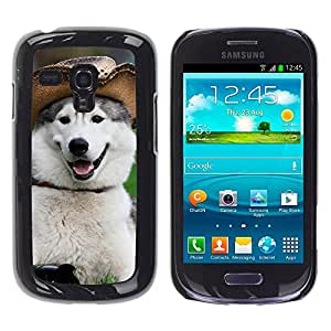 Vortex Accessory Hard Protective Case Skin Cover For Samsung Galaxy S3 Mini I8190 ( Not For S3 ) - Alaskan Malamute Siberian Husky Funny