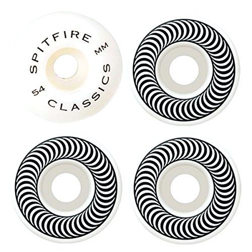 Spitfire Wheels Classic 54mm Skateboard Wheel One Size White