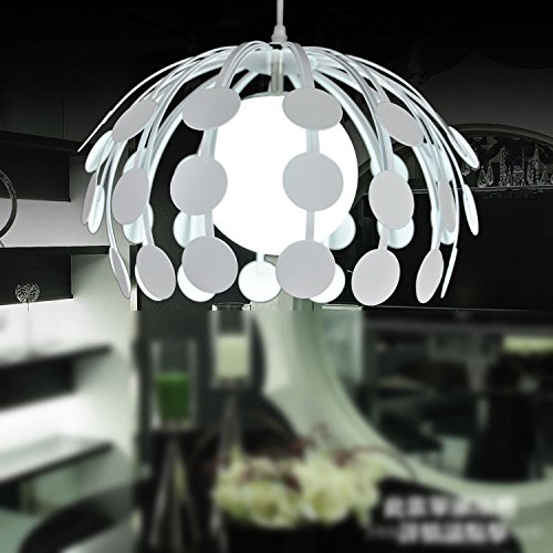 - CLG-FLY Engineering Of Non-Industrial Loft-Style Wrought-Iron Chandelier Creative Simplicity Single Head Lamp Chandelier The Restaurant Led Leaf Lamp,White,with best service