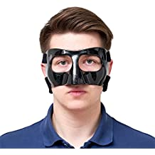 AmazingLife Basketball Carbon Fiber Protective Mask Nose Guard Face Shield for Sports