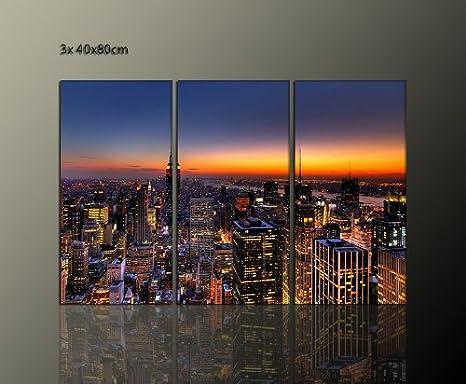 New York Bild 3 Teilig Moderne Bilder New York Skyline
