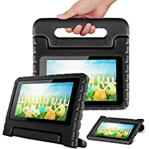 CAM-ULATA Case for Kindle Fire 7 Kids 2015 2017 Tablet Cover Shockproof with Handle Amazon Fire 7 inch 5th Generation 7th Generation Case (Fits 2017/2015 Fire 7, Black)