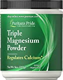 Cheap Puritan's Pride Triple Magnesium 400 mg Powder-8 oz Powder