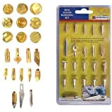 22PC REPLACEMENT TIP WOOD BURNING PYROGRAPHY HOBBY KIT ACCESSORIES NEW TOOL NEW by BARGAINS-GALORE