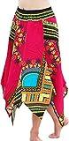 RaanPahMuang Brand Wild Angle Cut African Boubou Afrika Dashiki Art Dance Skirt, Long SizeM, Pink