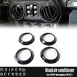 MAIKER Black Jeep Wrangler Air Conditioning Vent Cover Trim Kit for 2011 - 2017 Jeep Wrangler JK - 4PCS/Set