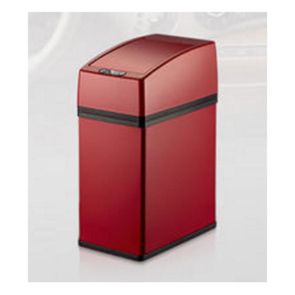 Sensor Bin Automatic Stainless Silver Steel,Desktop mini Trash , creative for car and home desktop,17.5*10.6*26cm , wine red wly&home