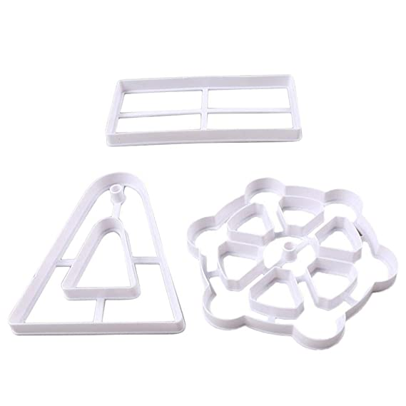 Wovemster 3 Unids Pastel Fondant Galleta Molde para Hornear Molde DIY Plástico Ferris Rueda de Corte, Decoración Foodie, Decoración de Vacaciones: ...