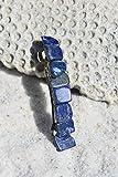 Lapis Lazuli Stone French Barrette Hair Clip