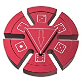 Dice Fidget Spinner, ATiC Stress Reducer Metal Hand Toy Fortune Wheel Fun Desktop Spinning Top with Stainless Steel Speedy Bearing for ADD, ADHD, Autism Kids and Adults Killing Time, Red