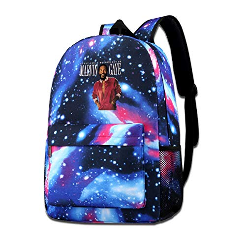 Unisex Galaxy Backpack Travel Bag College Bookbag Shoulder Bag Marvin Gaye Every Great Motown Hit Rucksack