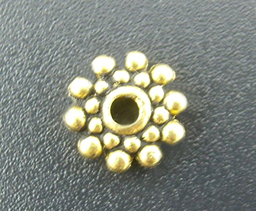 200 pcs Daisy Spacer DIY metal spacer Beads 8mm Jewelry Making #0283 (antique - Bead Antique Metal Gold