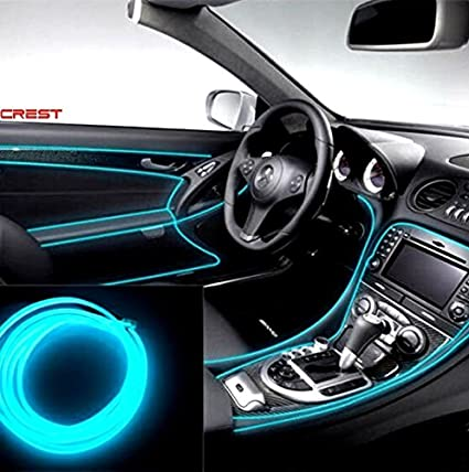 Amsik Cold Dashboard Ice Blue Strip Light 5 Meters For Maruti Suzuki