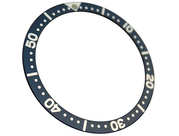 Navy Color Replacement Bezel Insert for 7S26 Scuba Diver SKX 007 009 Parts
