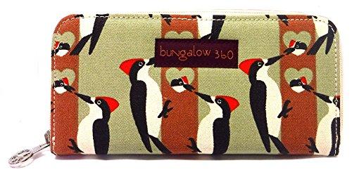 Bungalow360 Zip Around Wallet - Woodpecker