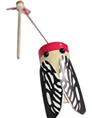 TOYMYTOY Traditional Chinese Bamboo Cicadas Toy DIY Handmade Novelty Noise Maker Toy for Toddlers Kids