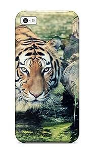 AgMdeUN7523ylaen Anti-scratch Case Cover AmandaMichaelFazio Protective Wild Tiger Case For Iphone 5c hjbrhga1544