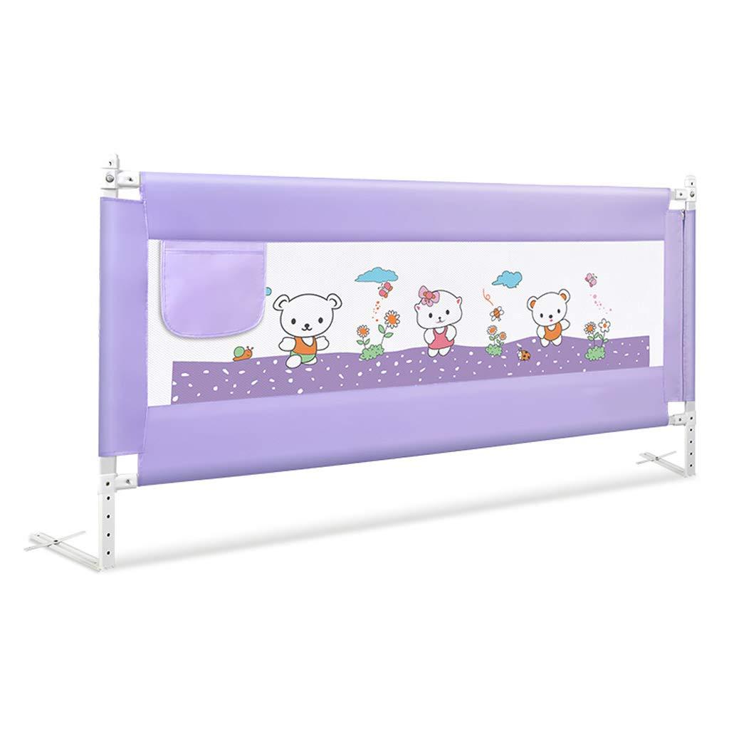 GY ベッドレール、 ベビーベッドガードレール、 赤ちゃんの転倒防止 安全メッシュベッドフェンスガード、 垂直リフティング、 ユニバーサル大きなベッド 1.5m / 1.8m / 2.0m、 2色展開 (色 : Patterned purple, サイズ さいず : 180cm) 180cm Patterned purple B07J6SKQQ5