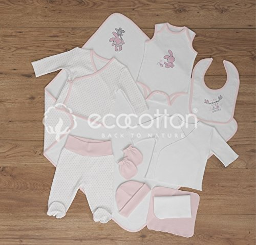 100% Organic Cotton - Newborn Baby Layette Set - Happy Animals Collection by Black Rose Organic