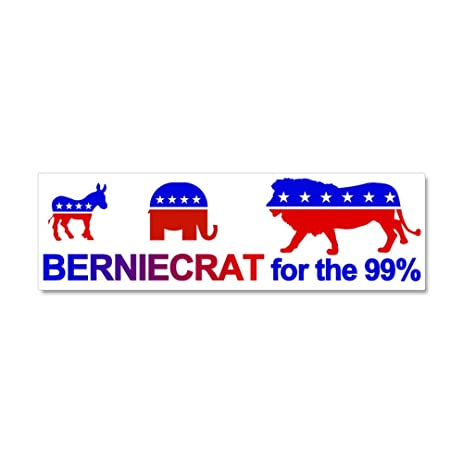 Cafepress berniecrat for the 99 car magnet 10 x 3 magnetic bumper