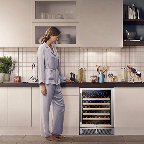 Wine Cooler, Wine Refrigerator, Built-in or Freestanding, AMZCHEF 52 Bottle Wine Refrigerator, Quiet, Constant Temperature, Energy Efficient by AMZCHEF (Image #3)