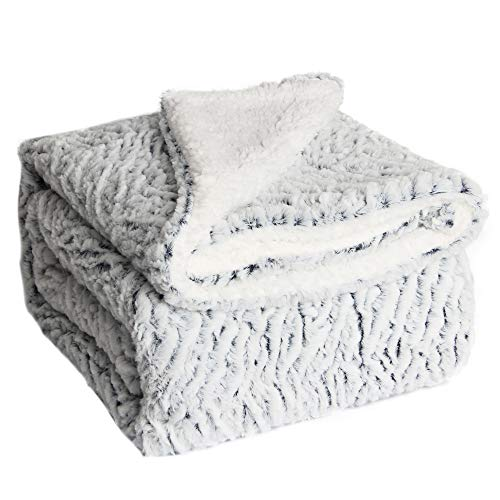 HoroM Soft Cozy Fluffy and Warm Sherpa Blanket Throw Blankets for Bed or Couch (50