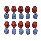 20Pcs/Set R134a 13mm & 16mm Air Conditioning Service AC System Charging Port Caps (10 Red High & 10 Blue Low)