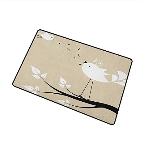 Amazon com : Birds Welcome Doormat Two Birds on a Branch Singing