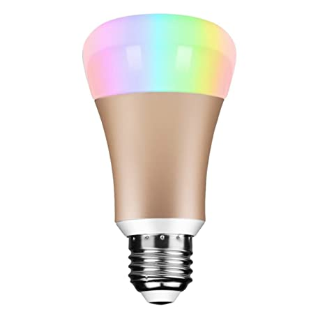 Smart Wifi bombilla LED – igreely Smart RGB bombilla luz blanca cálida regulable multicolor RGB luces