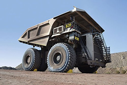 Mining Wheel Chocks - MC3011 Series; Length: 24.6''; Width: 14.5''; Height: 16''; Gross Vehicle Operating Weight - 2 Chocks (LBS): 855,000; Payload Max - 2 chocks (LBS): 480,000; Color: Yellow by Beacon World Class Products