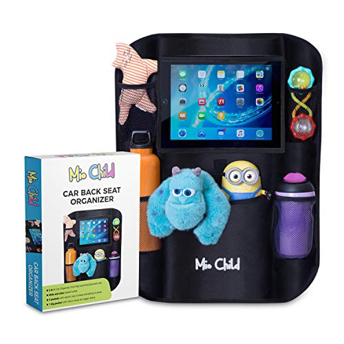 Back Seat Car Organizer with Tablet Holder - Fun Rides for You and Your Kids - 3-in-1 Car Organizer, Seat Protector and iPad Holder