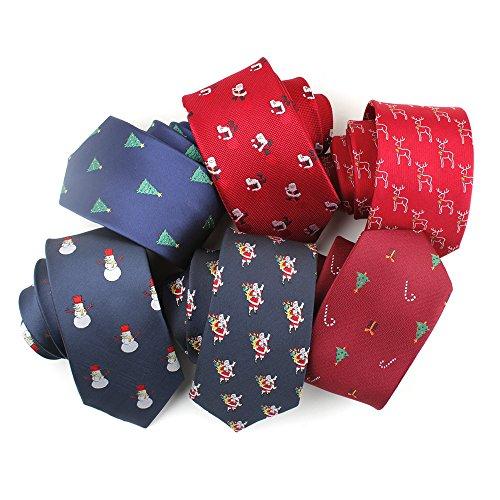 Natale scuro Accessory pupazzo Tie blu neve Man regolabile di Jacquard Pattern Acvip cravatta 8q7Ixag