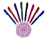 Erasable Pen - Pack of 8 Friction Erasable Gel Ink Colored Pens - 8 Colorful Fine Point Pens with 0.7mm Points - Best for Smooth Writing, Drawing and Easy Correction - By Hieno Supplies