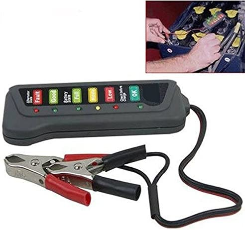 fomccu battery alternador comprobador de instrumentos de medici/ón de energ/ía de la bater/ía para coche motocicleta camiones 12/V